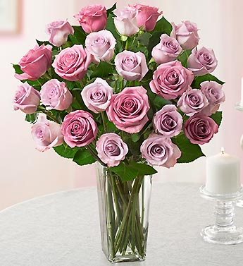 Passion for Two Dozen Lavender Roses