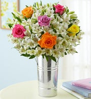 Assorted Rose and Peruvian Lily Bouquet