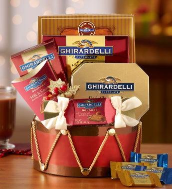 Classic Ghirardelli Drum Gift Basket