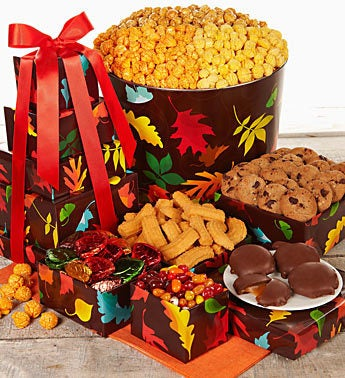 The Popcorn Factory� Autumn Prism Tin And Tower