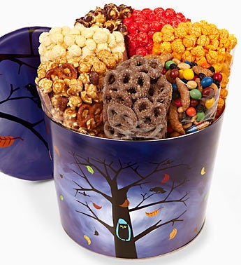 The Popcorn Factory� Owl 7 Way Snack Tin
