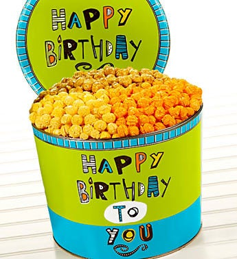 The Popcorn Factory� Great Big Birthday 3-Way Tin