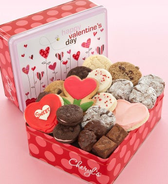 Cheryl's Valentine Heart Treats Gift Tin