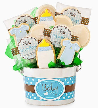 Cheryl's Baby Boy Cookie Flower Pot