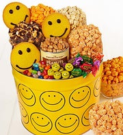 The Popcorn Factory� Assorted Smiley Snack Tin