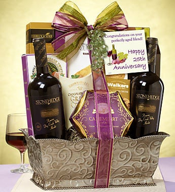 Happy 25th! Fruit of the Vine Wine Basket