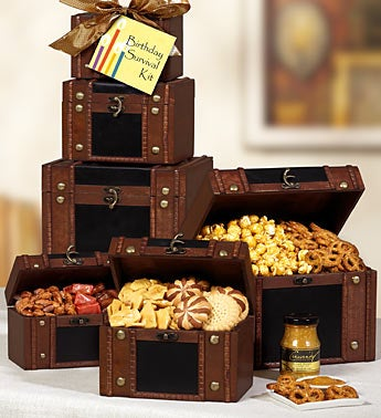 Birthday Survival Kit Faux Leather Trunk Tower