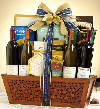 Executive Suite 4 Bottle French Wine Gift Basket