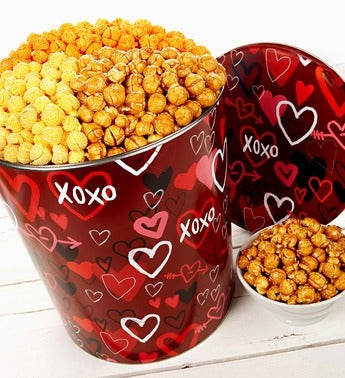 The Popcorn Factory� Graffiti Hearts Popcorn Tin