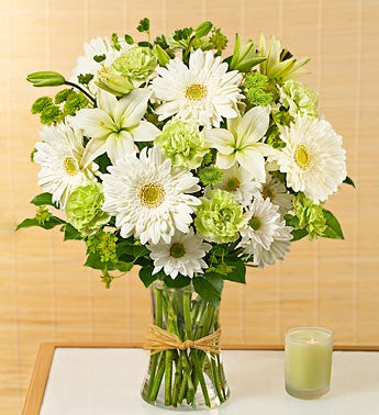 Serene Green Bouquet For Sympathy
