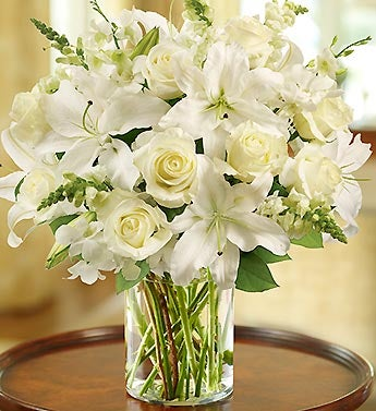 Classic All White Arrangement