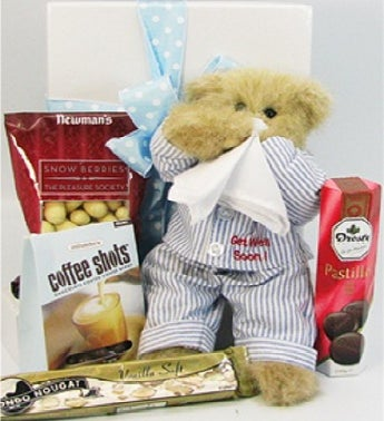 Get Well Teddy & Sweet Treats Gift Box