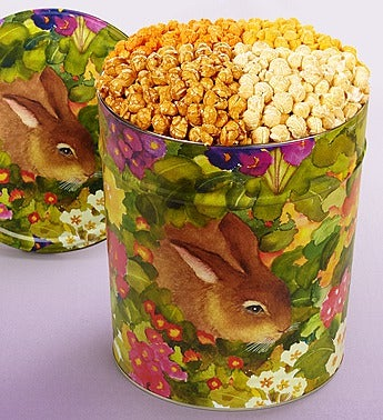The Popcorn Factory� Garden Bunny Popcorn Tin