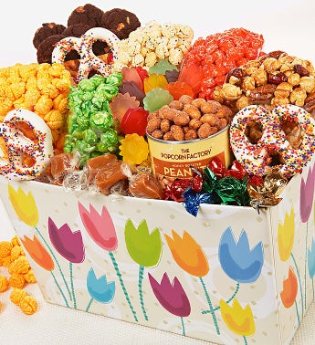 The Popcorn Factory� Tulips Basket