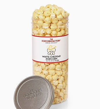 Popcorn Factory White Cheddar Canister 6.5 oz