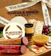 Lucca & Sons Sausage & Cheese Sympathy Gift Box