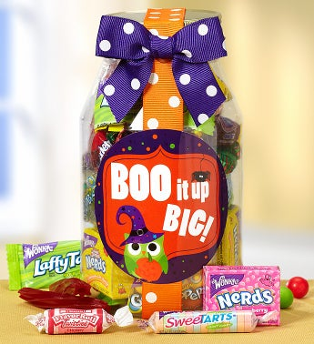 Boo It Up Big! Trick or Treat Candy Jar