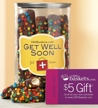 Get Well Pretzel Present