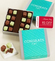 Fannie May� Congrats Mint Meltaway Chocolate Card