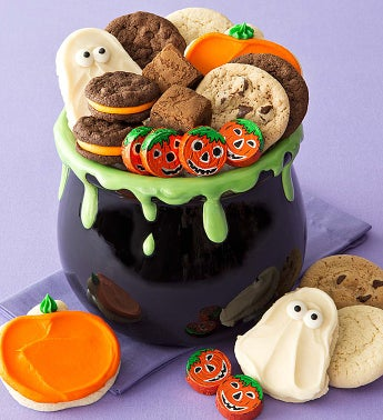 Cheryl's Cauldron Serving Bowl with Treats