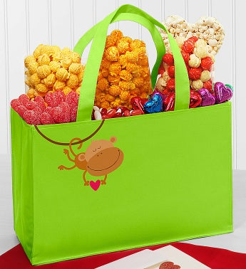 Popcorn Monkey Love Tote Bag