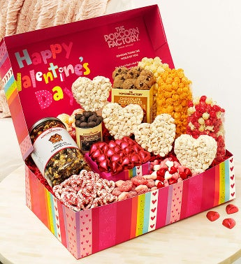 Popcorn Valentine Snackers Choice Gift