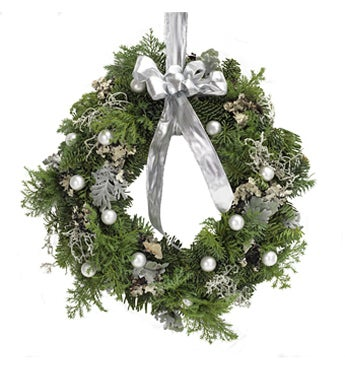 Silver Door Wreath