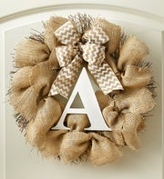Personalized Burlap Wreath ? 18""