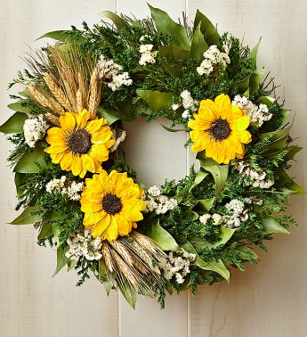 Preserved Sunflower Wreath ? 16""