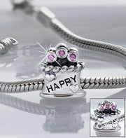 Chamilia� Bracelet with Birthday Cake Charm
