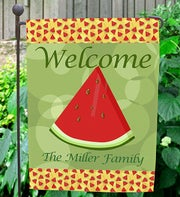 Personalized Welcome Garden Flag