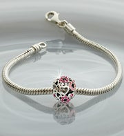 Chamilia� Bracelet with Pink Heart Charm