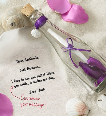 Personalized Message in a Bottle� Just Because