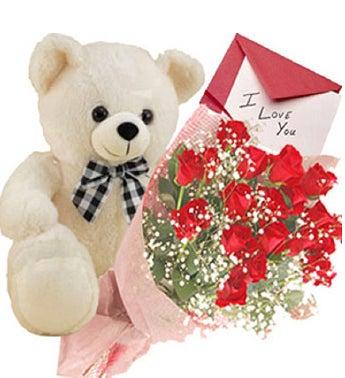 Dozen Red Roses Giftset