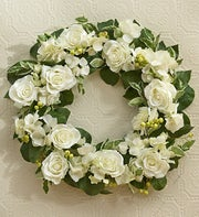 Classic All-White Wreath
