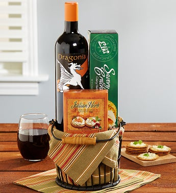 Sip and Savor Wine Basket