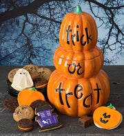 Triple Jack O'Lantern Cookie Jar-Treats