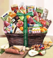 Happy Birthday Fruit & Sweets Basket