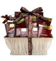 Godiva Decadence Ceramic Gift Basket