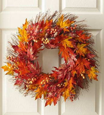 Autumn Beauty Silk Wreath