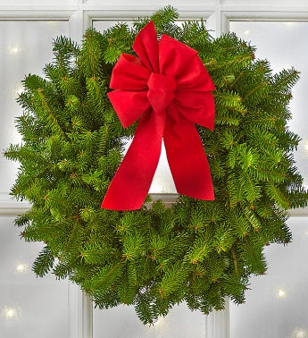 Christmas Wreath with Yankee Candle