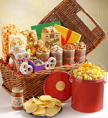 Assorted Treats Gift Basket