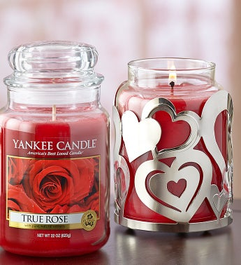 Yankee Candle� True Rose with Candle Holder