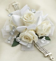 Infinite Rose White Corsage & Boutonniere