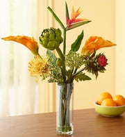 Tropical Silk Floral Arrangement