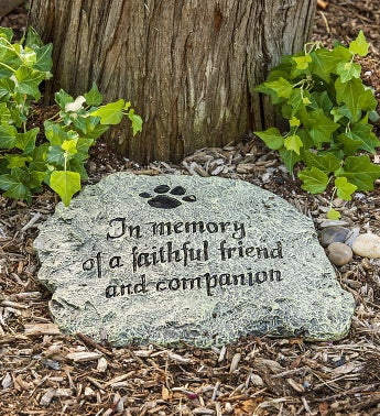 Faithful Friend Memory Garden Stone