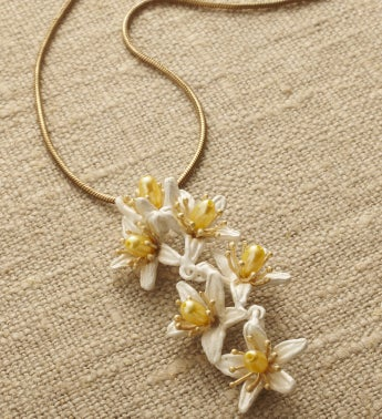 Orange Blossom Pendant Necklace