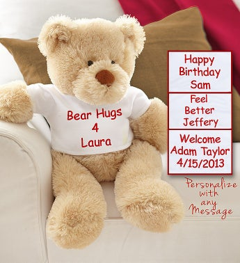 Personalized Bear with Customized T-shirt