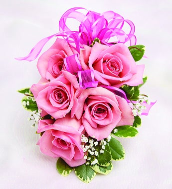 Flower Delivery Service on Pink Rose Corsage From 1 800 Flowers Com