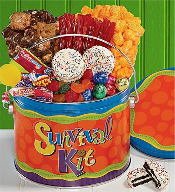 The Popcorn Factory Survival Kit Treats Pail